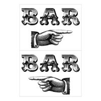 Dollhouse Bar Sign- Choice of Style - - Product Image