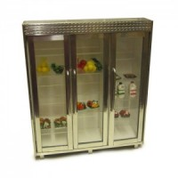( ) Dollhouse Commercial Triple Fridge - Product Image