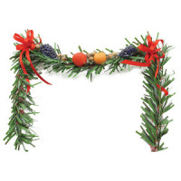 Dollhouse Decorated Fireplace Garland- Choice of Styles - - Product Image