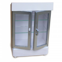(*) Dollhouse 2 Door Display Cooler- Choice of Finish - - Product Image
