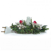 Dollhouse Electrified Centerpiece / Red & White - Product Image