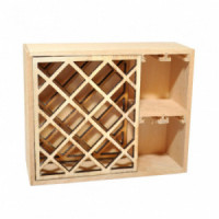 (*) Dollhouse Empty Unfinish Wine Rack - Product Image