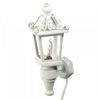 Dollhouse Lexington White Carriage Lamp - Product Image