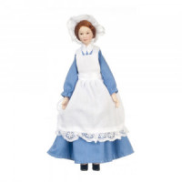 Dollhouse Maid Doll in Blue Dress - Product Image