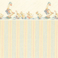 3 Shts Dollhouse Duck Wallpaper(s)- Choice of Color & Style - - Product Image
