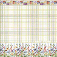 3 Shts - Dollhouse Picket Fence Wallpaper - Product Image