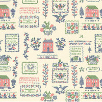 3 Shts - Dollhouse Sampler Wallpaper- Choice of Color & Style - - Product Image