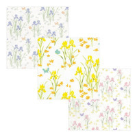 3 Shts - Dollhouse Iris Wallpaper- Choice of Color & Style - - Product Image