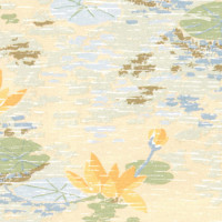 3 Shts - Dollhouse Lilly Pads Wallpaper - Product Image