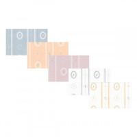 3 Shts - Dollhouse Cameo Stripe Paper- Choice of Color - - Product Image