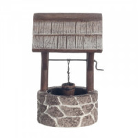 Dollhouse Fieldstone Wishing Well - Small - Product Image