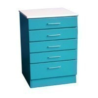 Dollhouse 5 Drawer Dentist or Medical Cabinet- Choice of Color - - Product Image