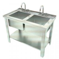 Dollhouse Silver Sink - Double - Product Image