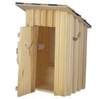 Dollhouse 2-Holer Outhouse - Product Image
