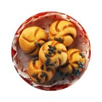 Dollhouse Kaiser Rolls in Basket - Product Image