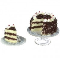 Dollhouse Chocolate Cheesecake with Slice - Product Image