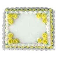Dollhouse Yellow Sheet Cake - Product Image