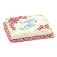 Dollhouse Happy 4Oth Sheet Cake - Product Image