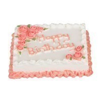 (*) Dollhouse Happy Birthday Sheet Cake Pink - Product Image