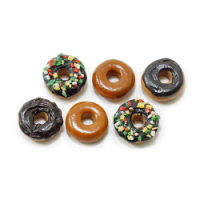 (**) Dollhouse 6 Assorted Donuts - Product Image