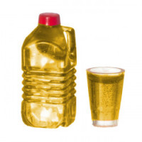 (**) Dollhouse 1/2 Gallon of Apple Juice Set - Product Image