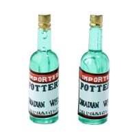 § Sale .30¢ Off - 2 Potter Whiskey Bottles - Product Image