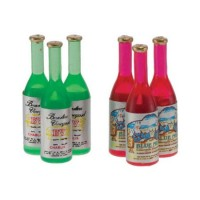 6 Dollhouse Wine Bottles - Product Image