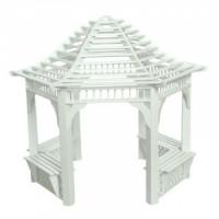 (*) Dollhouse Gazebo - White - Product Image