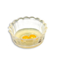 (*) Dollhouse Clear Bowl of Raw Eggs - Product Image
