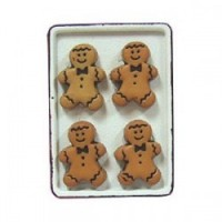 Dollhouse Gingerbread Men/Flow Cookie Sheet - Product Image