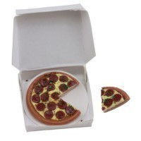 (*) Dollhouse Filled Pizza Togo Box - Product Image