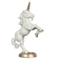 (**) Unfinished Statue - Rampant Unicorn - Product Image