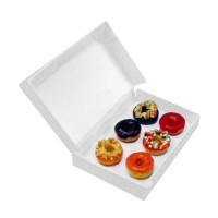 Sale $4 Off - Dollhouse Filled Bakery Box with Donuts - Product Image
