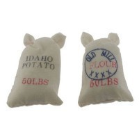 (**) 2 pc Dollhouse 50 lb. Food Sacks - Product Image