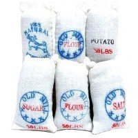(**) 6 pc Dollhouse 50 lb. Food Sacks - Product Image