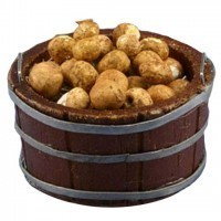 Dollhouse Filled Large Store Bucket of Potatoes - Product Image