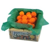 Dollhouse Filled Orange Crate - Product Image