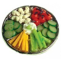 Dollhouse Veggies & Dip - Product Image
