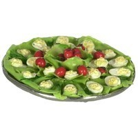 (* Closeout *) Dollhouse Round Deviled Eggs Tray - Product Image