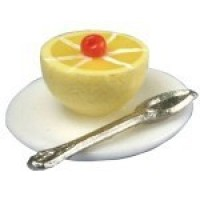 (*) Dollhouse Grapefruit on a Plate - Product Image