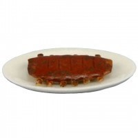 Dollhouse Slab of Ribs on Platter - Product Image
