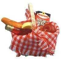 Small Dollhouse Filled Picnic Basket - Product Image