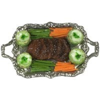 Dollhouse Patty Steak Dinner Tray - Product Image