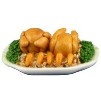 Dollhouse Cornish Game Hen Dinner - Product Image