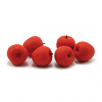 (*) 6 Dollhouse Red Apples - Product Image