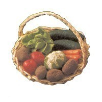 Dollhouse Large Filled Produce Basket  - Product Image