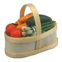 Dollhouse Filled Produce Basket - Product Image