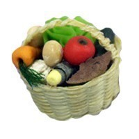 Sale $7 off - Dollhouse Filled Produce Basket - Product Image