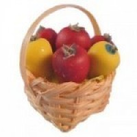 Dollhouse Basket of Fresh Peppers - Product Image