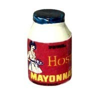 Sale $1 Off - Dollhouse Vintage Mayonaise Bottle - Product Image